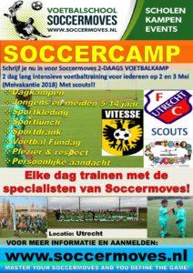 Voetbalschool soccermoves Voetbalkamp 2018 A3 flyer