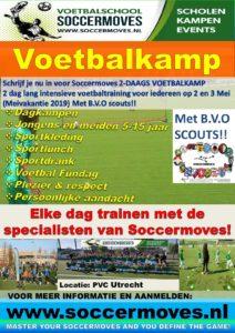 Voetbalschool soccermoves Voetbalkamp 2019 A3 flyer