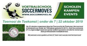 Op 22 oktober organiseert Ajax het Toernooi bij
