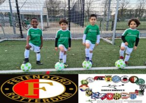 Yves, Naoufal, Safouan en Aiden stage Feyenoord